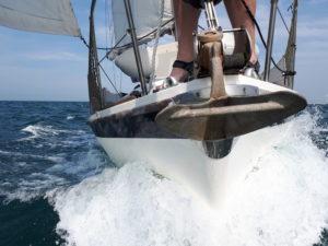Wouter van der Veen Snor voor de boot